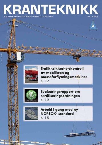 Kranteknikk 3-06.indd - Kranteknisk Forening