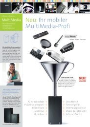 Neu: Ihr mobiler MultiMedia-Profi