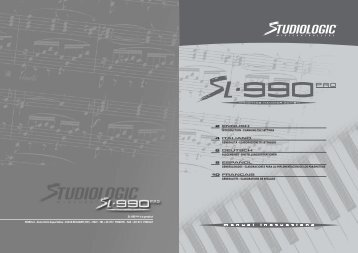 Manuale SL-990 pro (Page 1 - 2) - zZounds.com