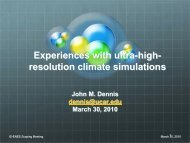 High-Resolution Computing - John DENNIS - IS-ENES