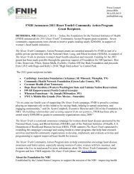Press release - Foundation for the National Institutes of Health