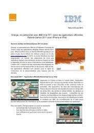 Orange, en partenariat avec IBM et la FFT, lance ... - Orange en France