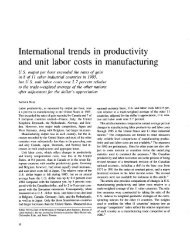 International trends in productivity and unit labor costs in ...
