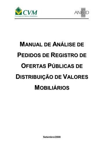 Manual Convênio - Versão Eletrônica - Anbima