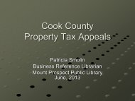 Property Tax Appeal Process - Mount Prospect Public Library