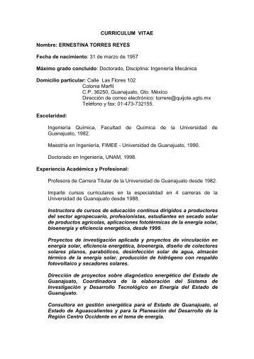 ERNESTINA TORRES REYES - Asociación Nacional de Energía Solar