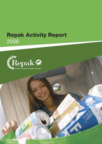Activity Report 2006 - Repak