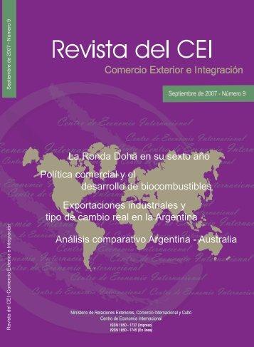Revista del CEI 9.pdf - Centro de Economía Internacional