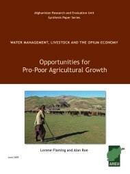 Opportunities for Pro-Poor Agricultural Growth - the Afghanistan ...