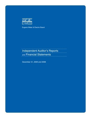 2009 Financial Report - Eugene Water & Electric Board