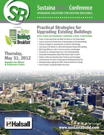 Download the brochure - sustainabuild :: conference