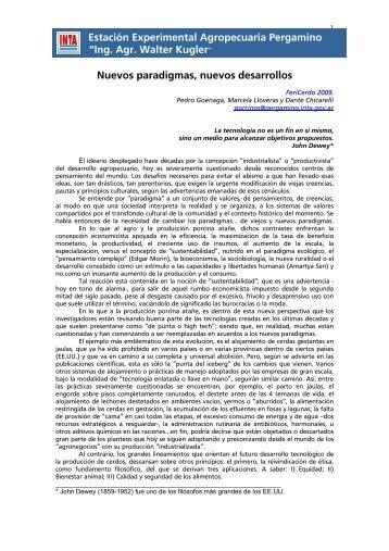 Nuevos paradigmas, nuevos desarrollos - Centro de Información de ...