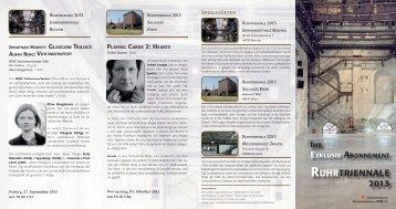 weitere Informationen - Theatergemeinde Essen - Metropole Ruhr