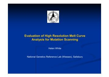 High resolution melt analysis - National Genetics Reference ...