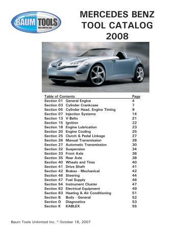 Index part number page 7 for Mercedes benz parts contact number