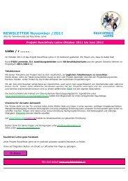 NEWSLETTER November /2011 - Rauchfreie Lehre