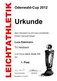 Odenwald-Cup 2012 - HLV Odenwald