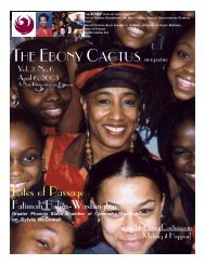 April 6, 2003 - The Ebony Cactus