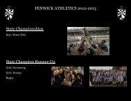 Fenwick Athletics Recap 2012-2013 - Fenwick High School