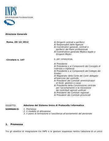 Circolare numero 147 del 20-12-2012 - Studio Legale Avv ...
