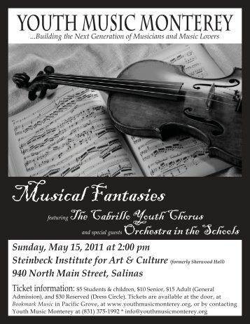 Concert 3 Flyer.indd - Youth Music Monterey