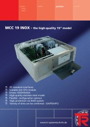 "MCC 19 INOX - the high-quality 19"" model - TR Electronic"