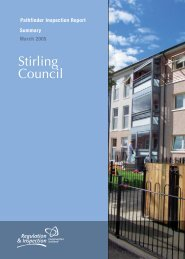 Pathfinder Inspection Report 2005 - Stirling Council