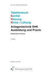 Tabellenbuch Sanitär Heizung Klima / Lüftung Anlagentechnik SHK ...