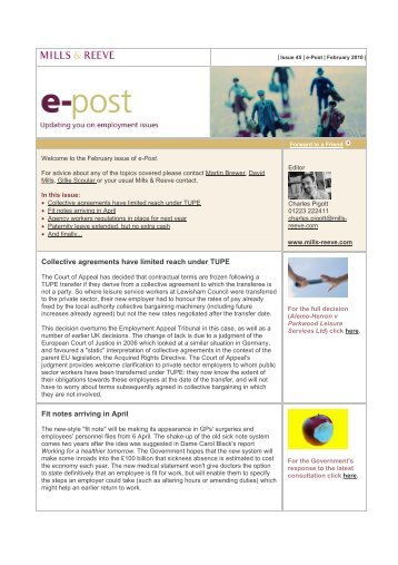 e-Post - Mills & Reeve