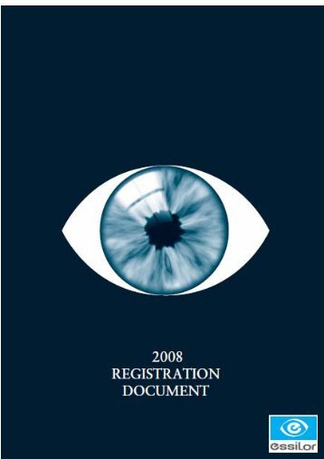 2008 Registration Document - Essilor