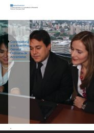 convocatoria a la Asamblea General Ordinaria de ... - Banco Provincial
