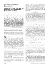 Vancomycin-Resistant Enterococci* - CHEST Publications