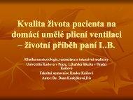 Kvalita života pacienta na domácí umělé plicní ventilaci - Česká ...