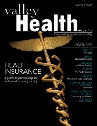 June/July 08 - Valley Health Magazine