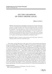 ON THE GRAMMAR OF FIRST-ORDER LOGIC