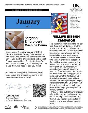 January 2012 Newsletter - Bullitt County Cooperative Extension
