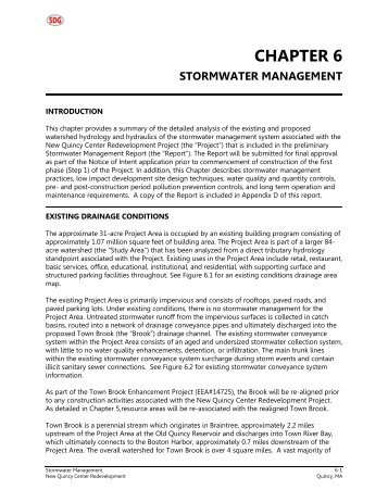 chapter 6 stormwater management - City of Quincy