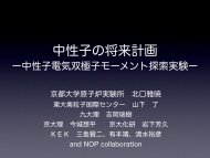 中性子の将来計画 - 東京大学素粒子物理国際研究センター