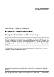 Kartellrecht und Internetvertrieb - bühlmann rechtsanwälte, zürich