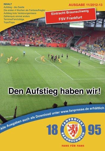 Heft 11: FSV Frankfurt - FanPresse Braunschweig