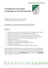 Einladung 11er Turnier 2013 - Fußball beim SV Sillenbuch