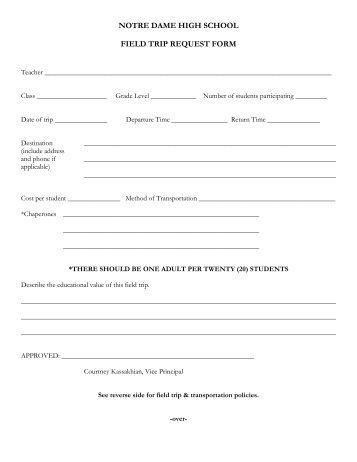 Field Trip Request Form Kenton County Schools