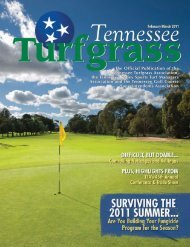 The Official Publication of the Tennessee Turfgrass Association, the ...