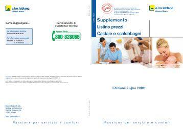 Listino elm leblanc condensazione excel - Bosch