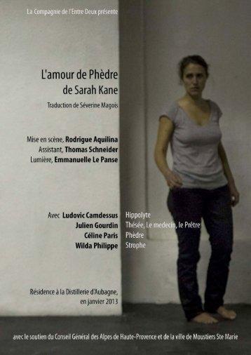 """""""L'amour de Phèdre"""".pdf - la distillerie"""