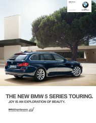THE NEW BMW 5 SERIES TOURING.