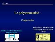 Le polytraumatisé : - SMUR BMPM