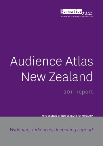 Audience Atlas - Creative New Zealand