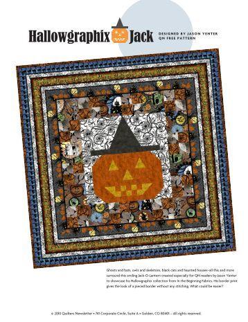 Hallowgraphix Jack - Quilters Newsletter