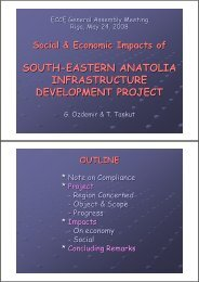 Social & Economic Impacts of South-Eastern Anatolia Infrastructure ...